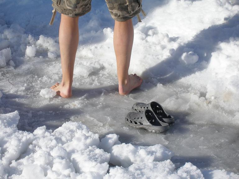 Barfuss im Winter
